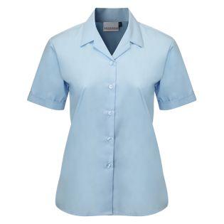 Banner Girls Twin Pack Short Sleeve Rever Blue Blouse